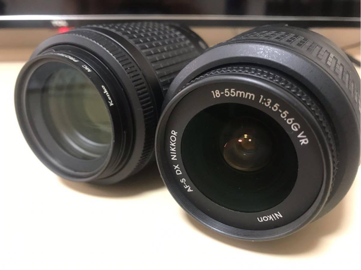 【送料無料】【返品可】NIKON D5300 ダブルームキット2 中古 18-55mm VR 55-200mm VR (ニコン一眼レフ)_画像2