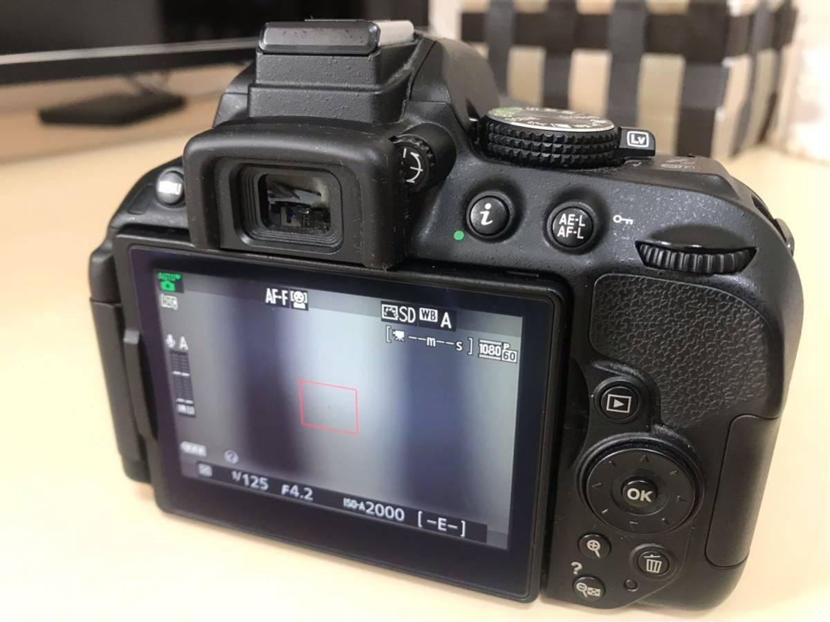 【送料無料】【返品可】NIKON D5300 ダブルームキット2 中古 18-55mm VR 55-200mm VR (ニコン一眼レフ)_画像6
