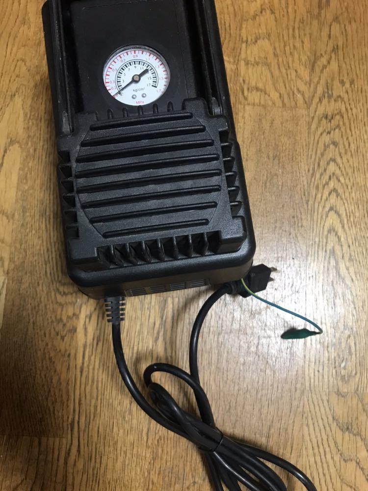 オイルレスミニエアコンプレッサー HMAC-50 三共コーポレーション 通電確認済み 現状品②_画像2