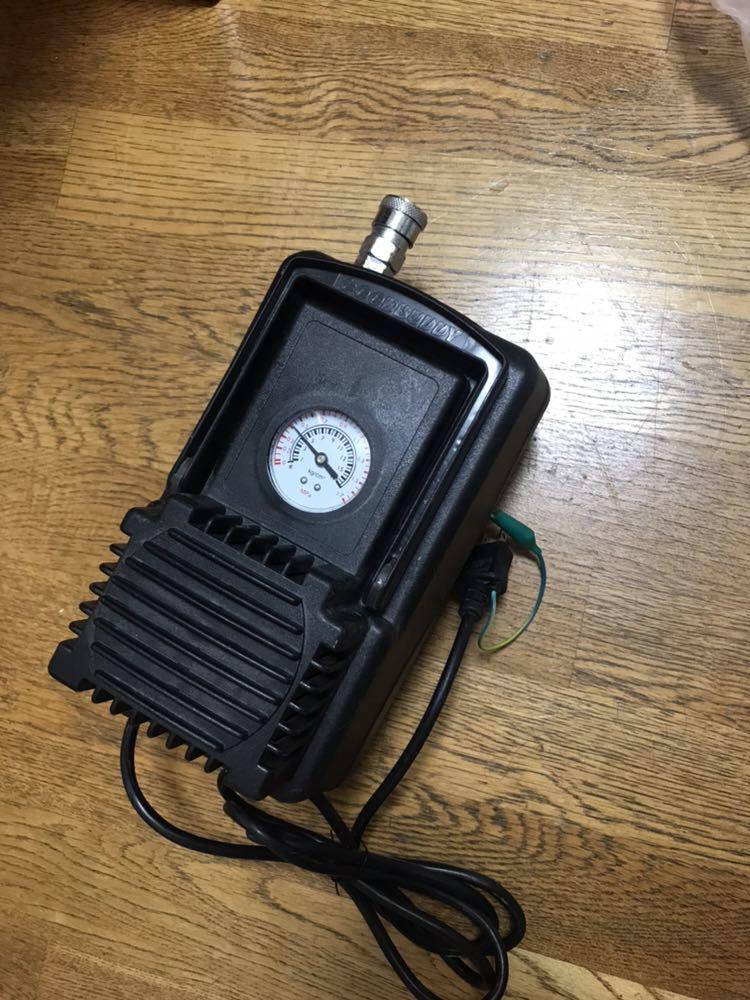 オイルレスミニエアコンプレッサー HMAC-50 三共コーポレーション 通電確認済み 現状品②_画像3