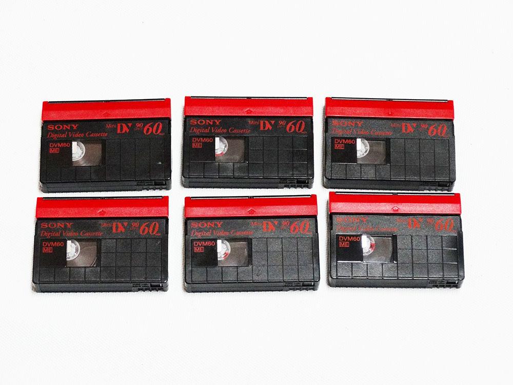 miniDVテープ SONY DVM60 (リサイクルテープ)6本_画像2