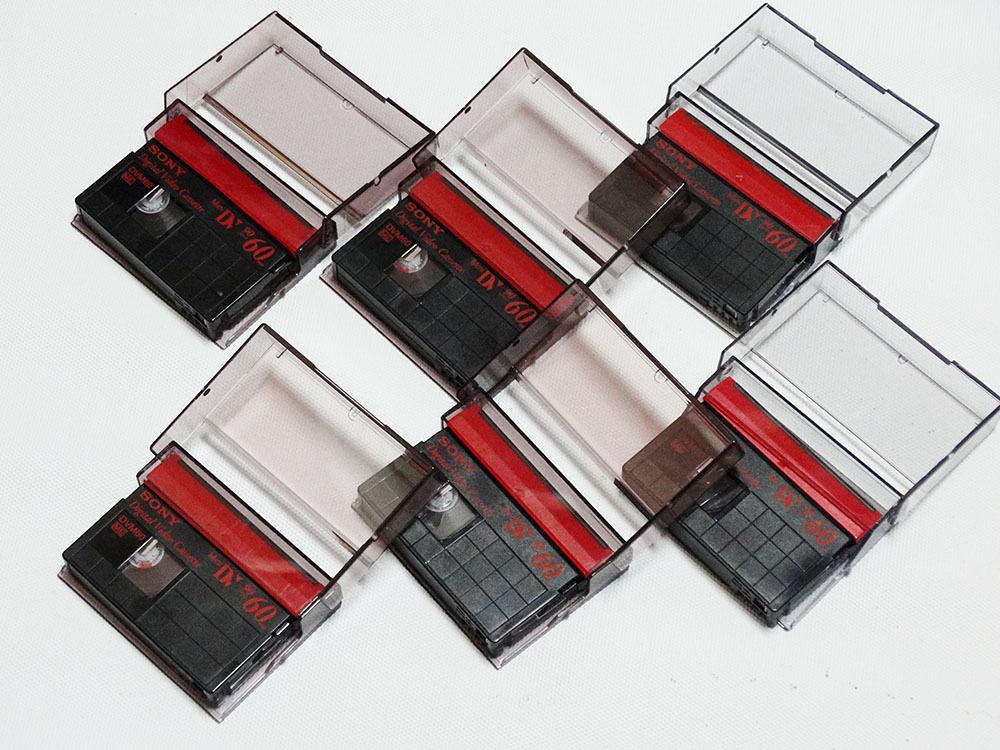 miniDVテープ SONY DVM60 (リサイクルテープ)6本_画像1