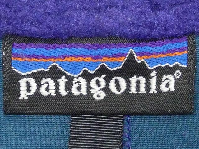 即決★米国製 Patagonia★メンズS ビンテージ古着 レトロパイルジャケット パタゴニア 90s フリース 青 ブルー 雪なしタグ アメリカ製_画像8