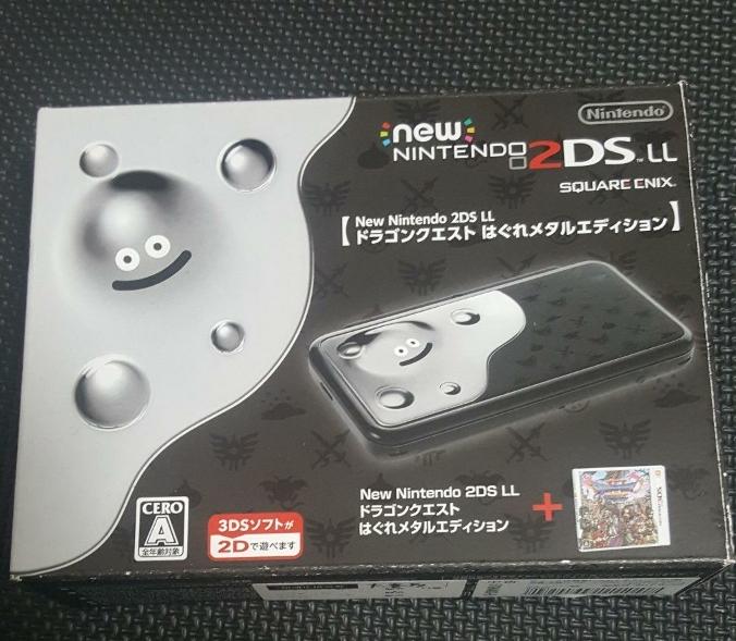 中古 ニンテンドー2DS LL ドラゴンクエスト はぐれメタルエディション 2ds 保護シート無 箱有 美品 自宅保管品 Nintendo ds ll 動作確認済