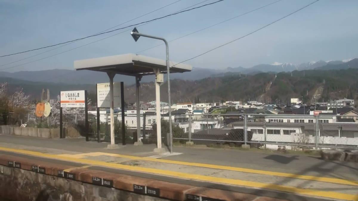 飯田線519M 車窓 豊橋→上諏訪 (字幕無/有BD-R DL1枚)_伊那大島駅より南アルプスを望む