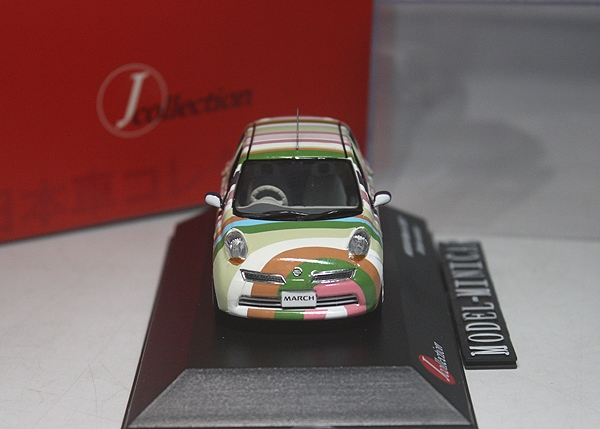 ★★★京商 J-Collection 1/43 Nissan 日産 March マーチ Stripe Version 2007 JC_画像2