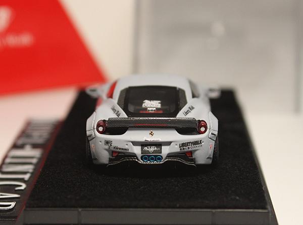 ★★★完売!LB特注品!1/64 フェラーリ Ferrari 458 Italia LB Works Liberty Walk Duck Tail Zero Fighter 零式戦闘機 Matt Grey 限定品_画像3