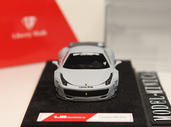 ★★★完売!LB特注品!1/64 フェラーリ Ferrari 458 Italia LB Works Liberty Walk Duck Tail Zero Fighter 零式戦闘機 Matt Grey 限定品_画像2