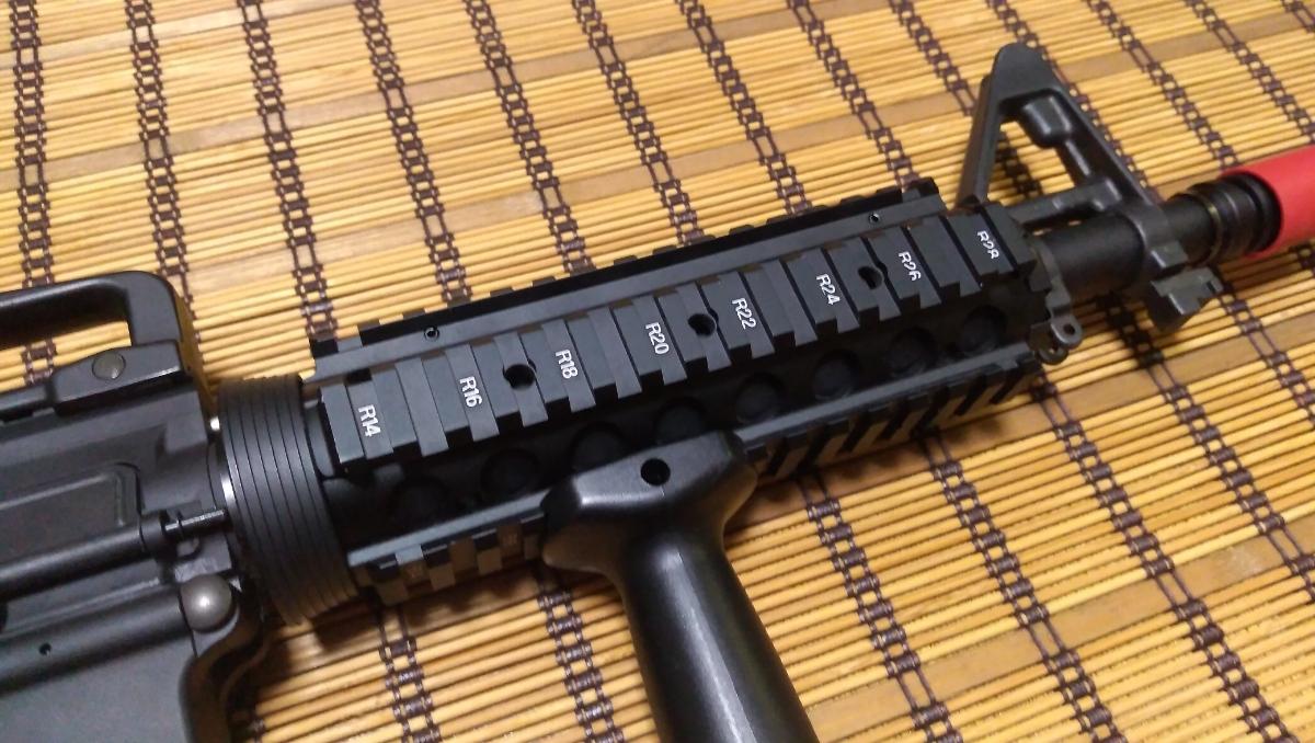 マルイ M4 CQBR BLOCK1 GBB ガスブローバック マグ3本 付属品多数 (MWS_画像4