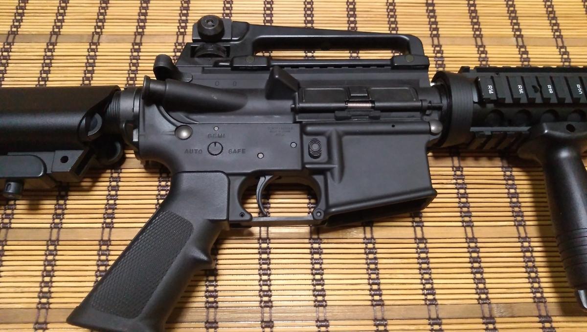 マルイ M4 CQBR BLOCK1 GBB ガスブローバック マグ3本 付属品多数 (MWS_画像3