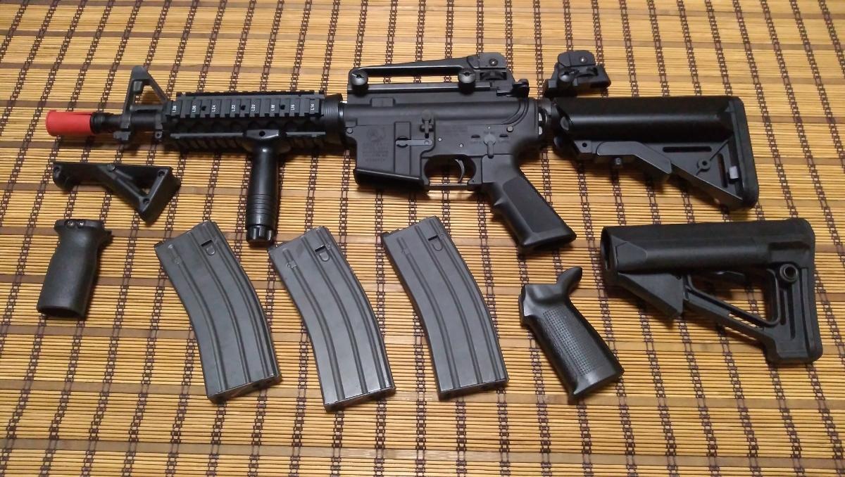 マルイ M4 CQBR BLOCK1 GBB ガスブローバック マグ3本 付属品多数 (MWS