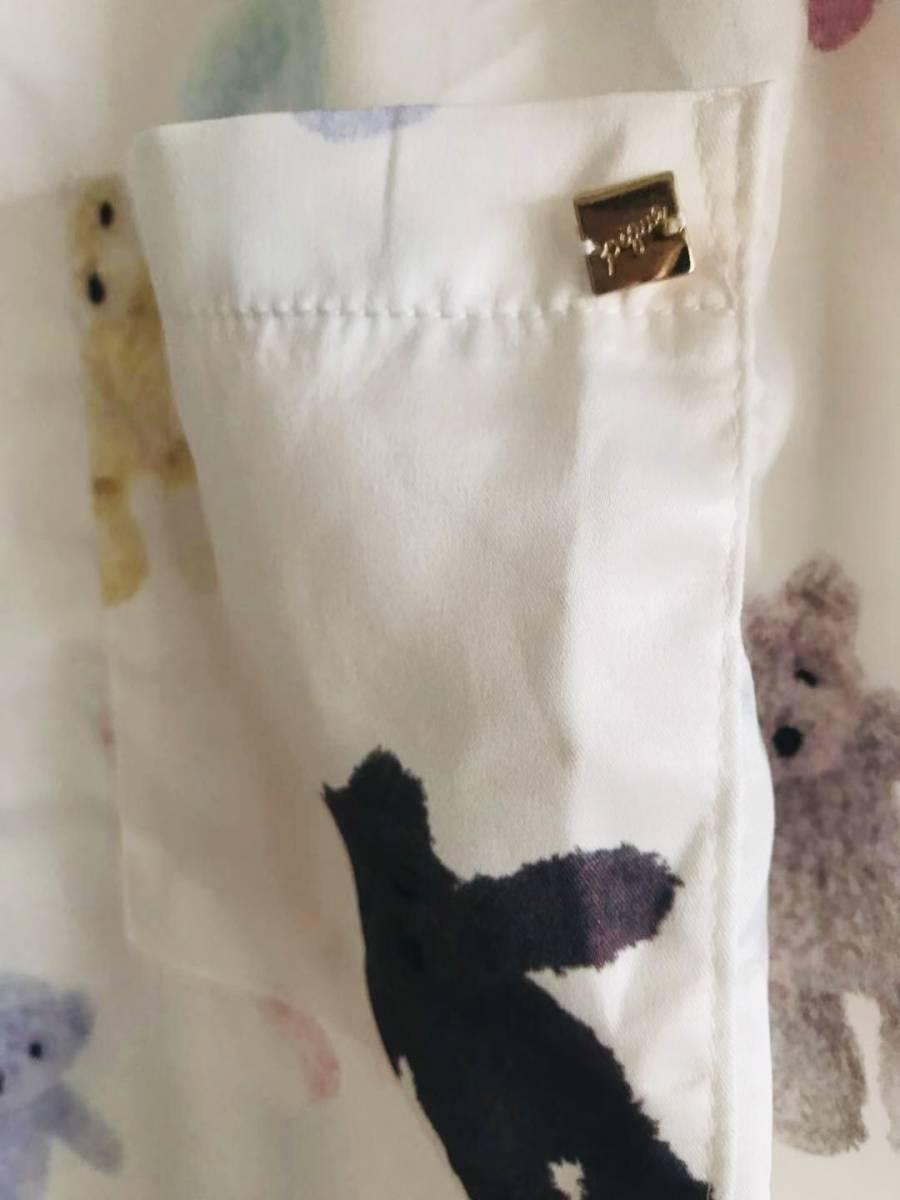 新品未使用品 ジェラートピケ 10周年 テディベアサテンシャツ&ショットパンツ 上下セット 取り置き同梱OK_画像3
