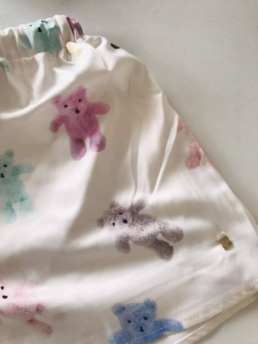新品未使用品 ジェラートピケ 10周年 テディベアサテンシャツ&ショットパンツ 上下セット 取り置き同梱OK_画像6