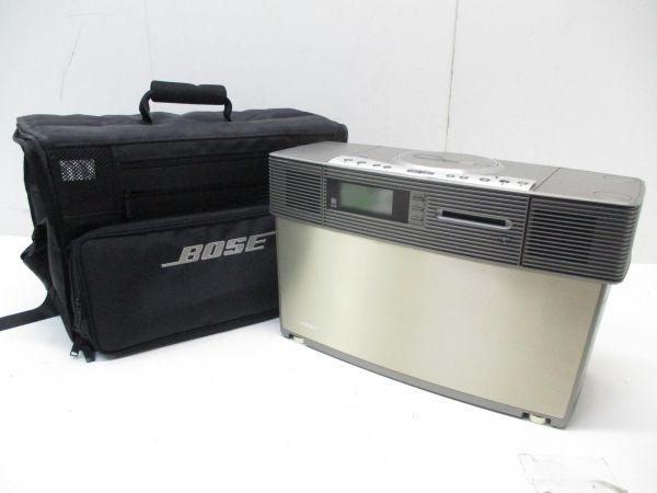 □動作品 BOSE ボーズ 一体型 VIRTUAL IMAGING ARRAY VIA 高音質 CD・MD プレイヤー FM/AM 専用ケース付 0201 A-3□