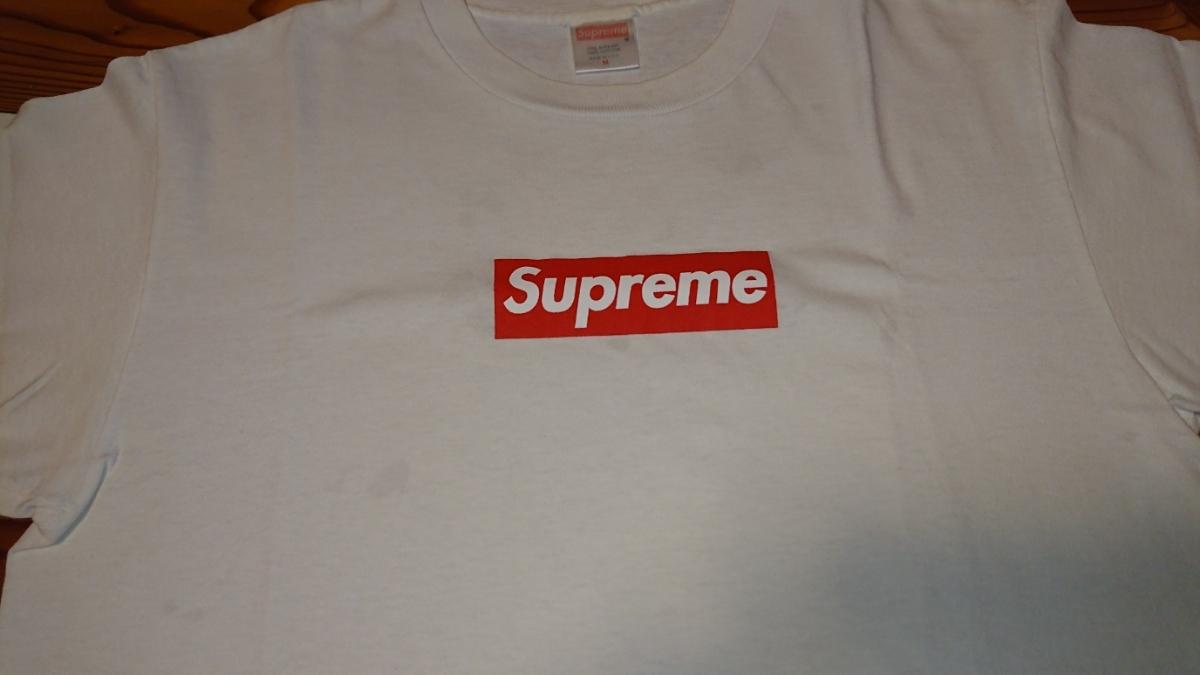 売り切り 1円スタート カッコイイ! Supreme ボックスロゴ Tシャツ Mサイズ 中古 シュプリーム box logo tee _画像3