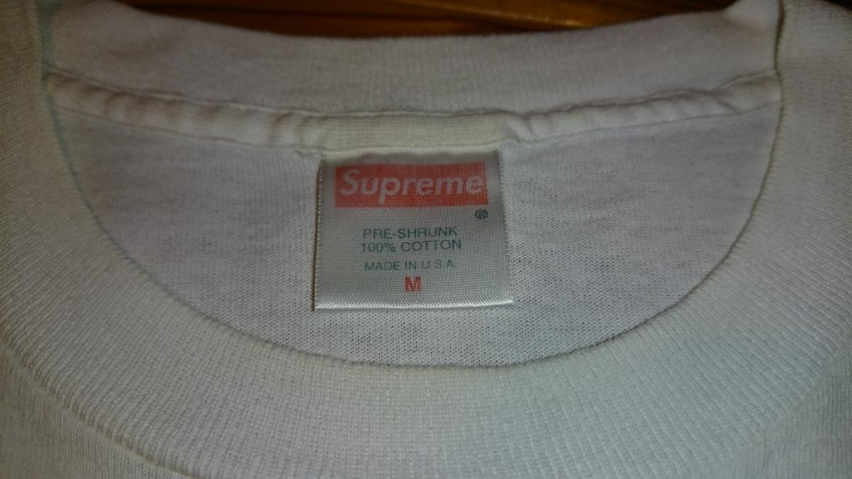 売り切り 1円スタート カッコイイ! Supreme ボックスロゴ Tシャツ Mサイズ 中古 シュプリーム box logo tee _画像4