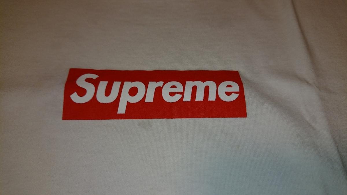売り切り 1円スタート カッコイイ! Supreme ボックスロゴ Tシャツ Mサイズ 中古 シュプリーム box logo tee _画像2