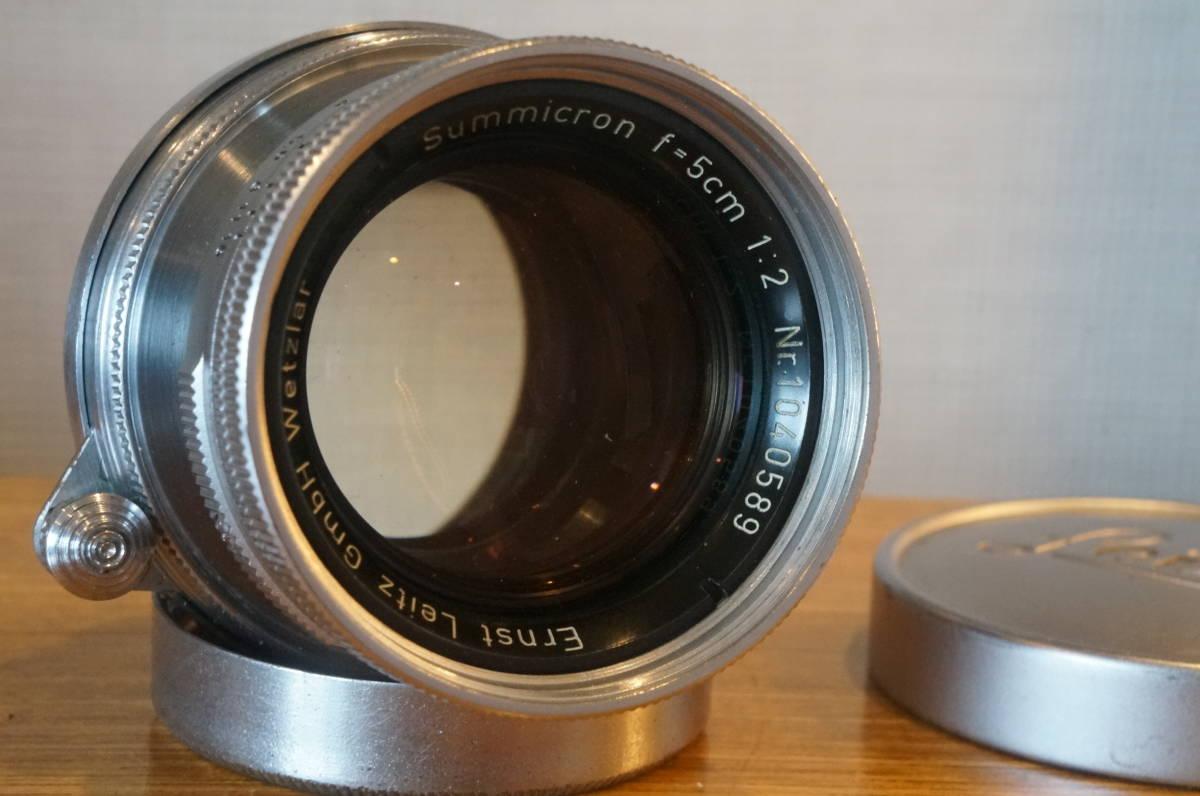 ★Leica Summicron 5cm F2 ライカ ズミクロン 50mm f2 沈胴 トリウムレンズ ドイツ製 104万番代★_画像3
