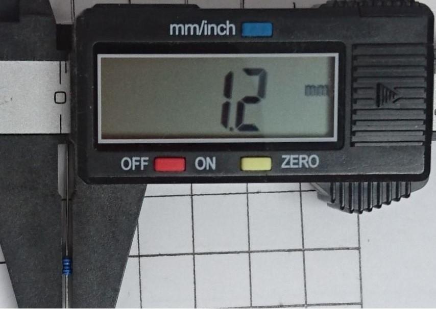 小型 金属皮膜抵抗 10kΩ(1/4W ±1%)10本_画像2