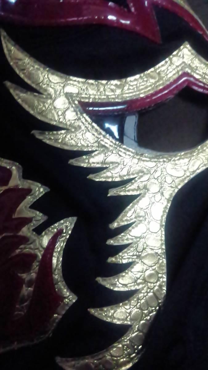 【年代物】ラウルロメロ製 ウルティモ ドラゴン【ヴィンテージ】黒ジャージ _画像4