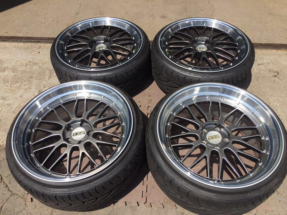 レア 鍛造 BBS LM 20インチ 9.5J+40 10.5J+20 PCD114.3-5H LM238 LM239 DB-SLD 日産 GT-R R35スペック ニットータイヤ&TPMSエアモニ付き
