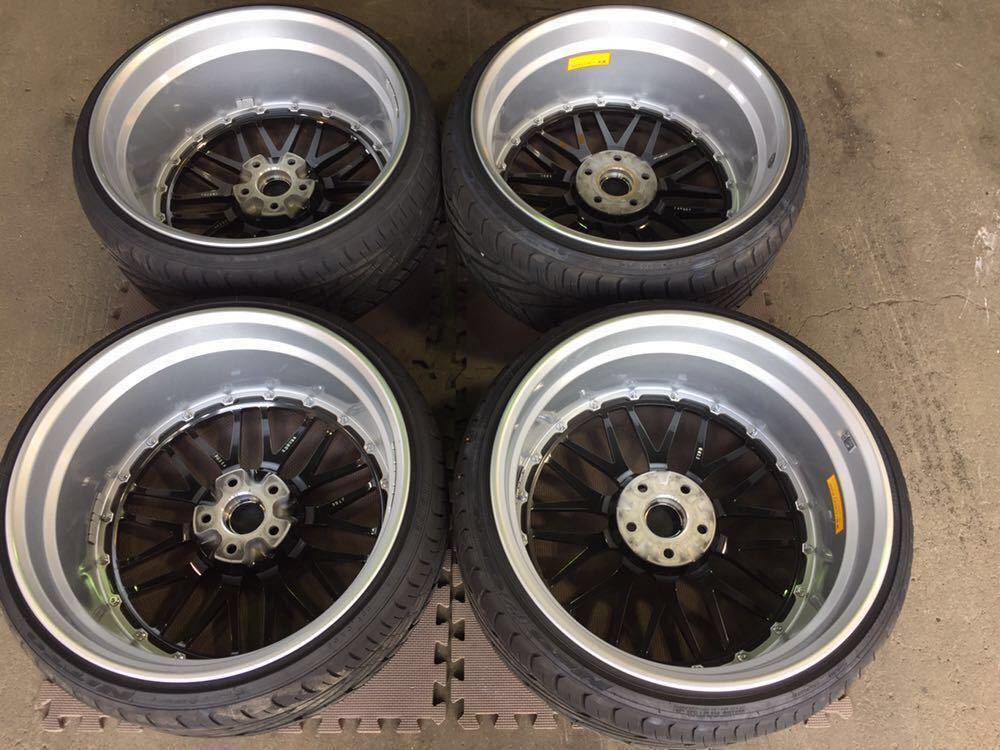 レア 鍛造 BBS LM 20インチ 9.5J+40 10.5J+20 PCD114.3-5H LM238 LM239 DB-SLD 日産 GT-R R35スペック ニットータイヤ&TPMSエアモニ付き_画像4