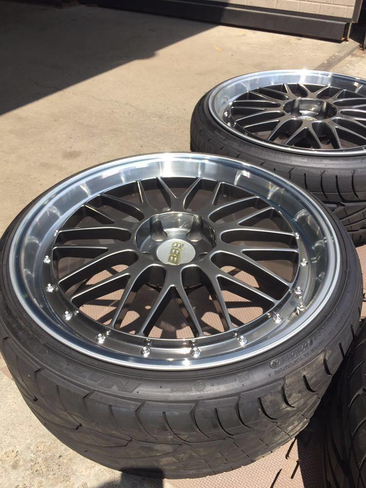 レア 鍛造 BBS LM 20インチ 9.5J+40 10.5J+20 PCD114.3-5H LM238 LM239 DB-SLD 日産 GT-R R35スペック ニットータイヤ&TPMSエアモニ付き_画像2