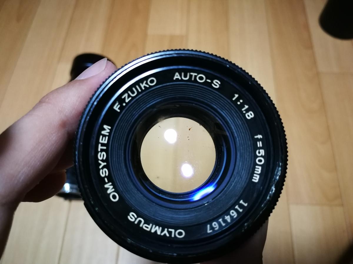 売り切り☆ OLYMPUS オリンパス OM-1 OM-SYSTEM F.ZUIKO AUTO-S 1:1.8 f=50mm フィルムカメラ 望遠レンズ おまけ付き_画像8