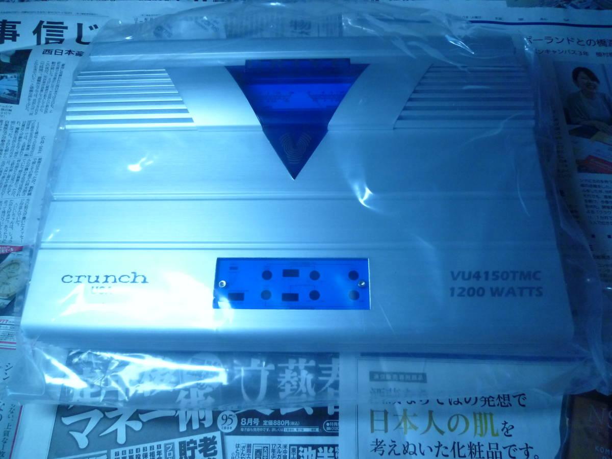 定価144千円 デジアンや中古に興味のない方オススメ!! 新品未使用 CRUNCH USA クランチ 4/3/2chパワーアンプ 定格1200W RCA1系統4ch可能_画像2
