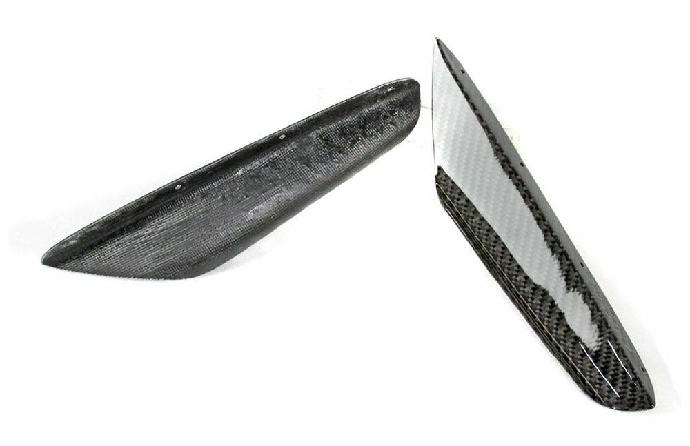 左右セット スバル WRX/WRX STI VA カーボン フロント バンパー サイド カナード _画像4
