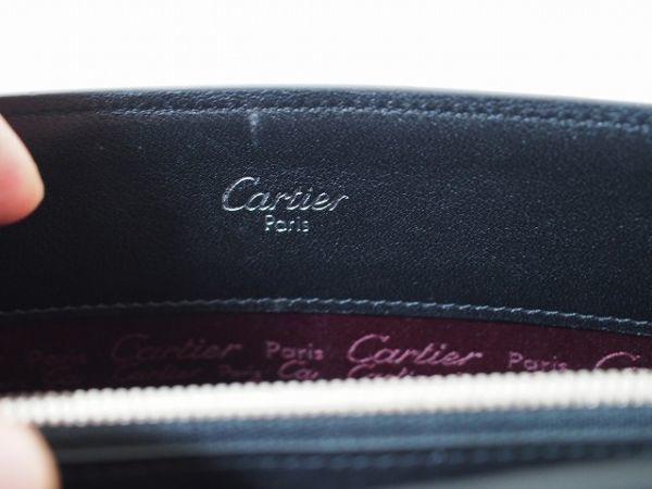 レア美品 カルティエ Cartier カボション レザートートバッグ シルバー金具 箱・ギャランティ有 76_画像6