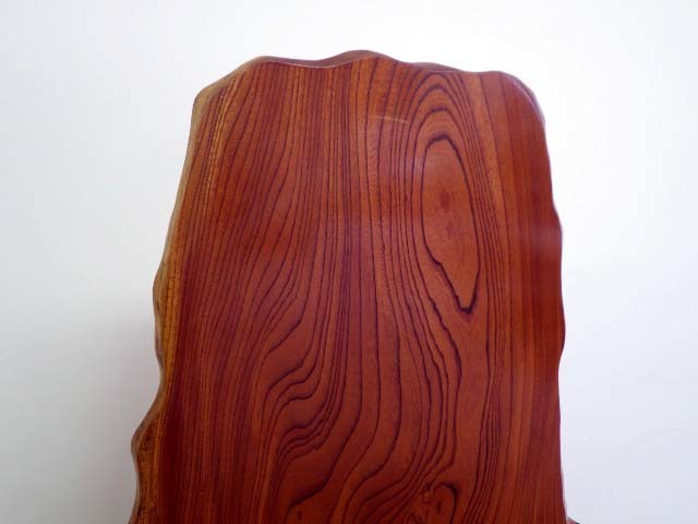 214【S.R】天然木 一枚板 衝立 木工工芸 総無垢 ついたて 置物 間仕切り ケヤキ/欅 和家具 幅102㎝ 高120㎝ 香川発_画像7