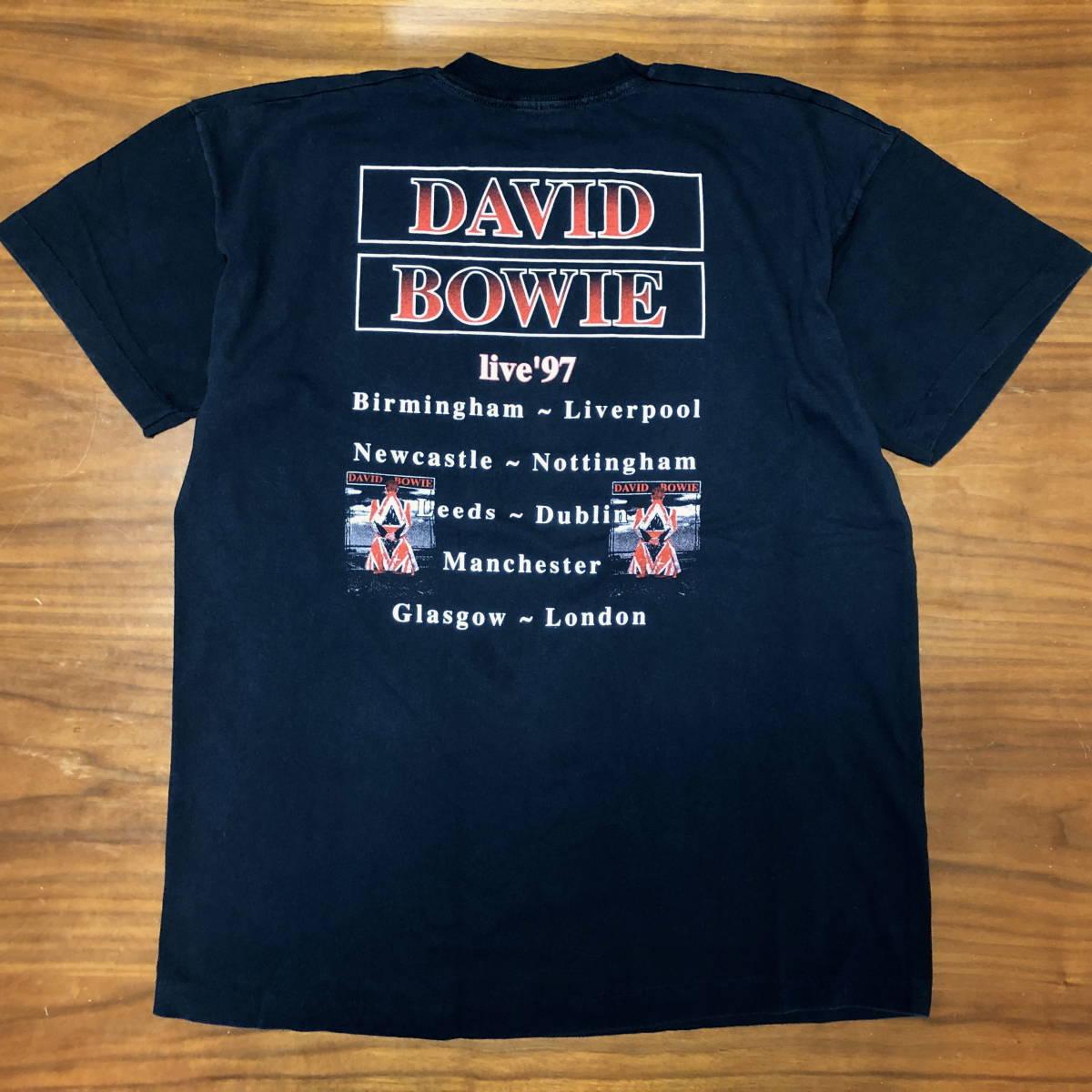 90s ビンテージ DAVID BOWIE ツアー Tシャツ XLサイズ 90年代 ヴィンテージ ボウイ バンドT NIRVANA METALLICA OASIS BLUR SONICYOUTH_画像2