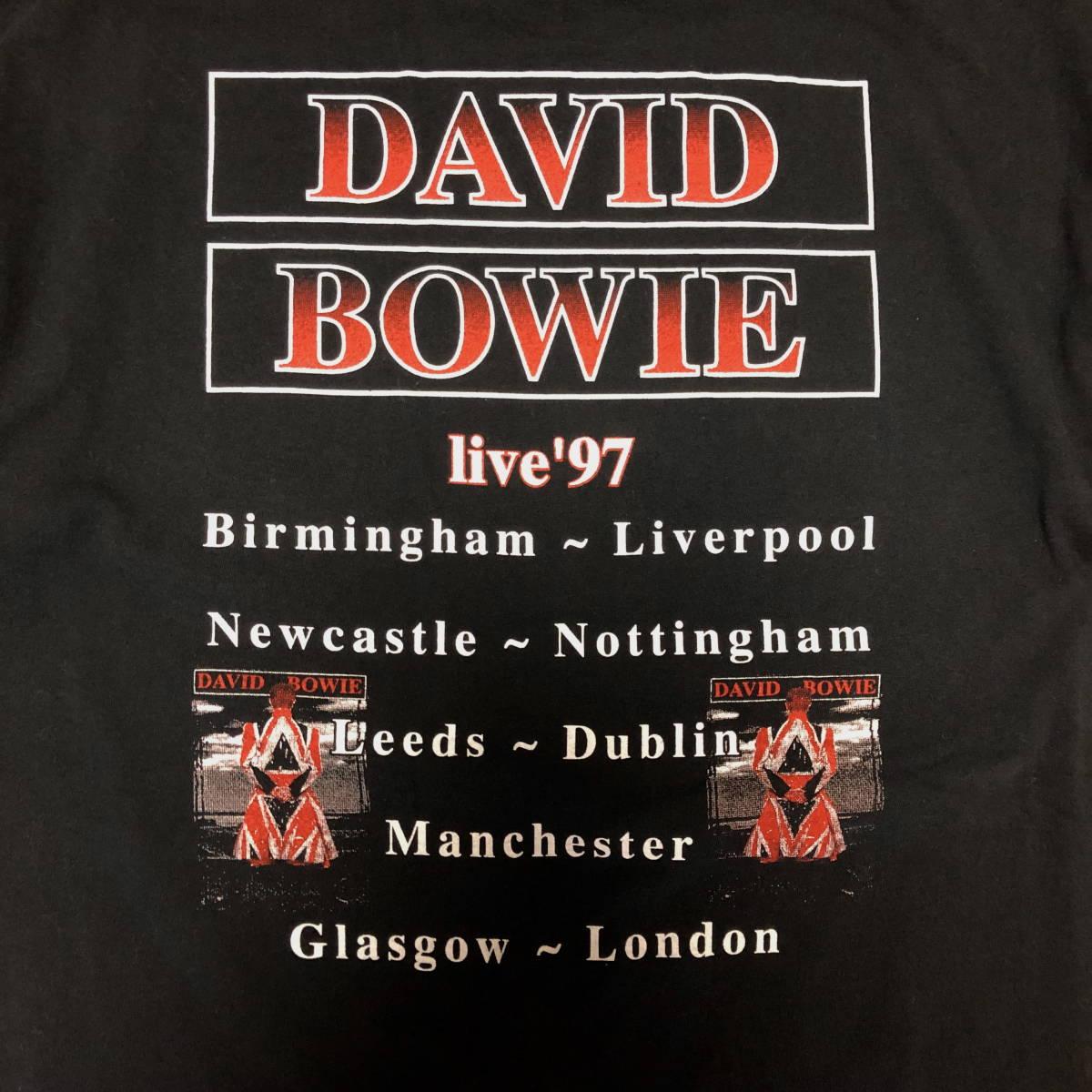 90s ビンテージ DAVID BOWIE ツアー Tシャツ XLサイズ 90年代 ヴィンテージ ボウイ バンドT NIRVANA METALLICA OASIS BLUR SONICYOUTH_画像4