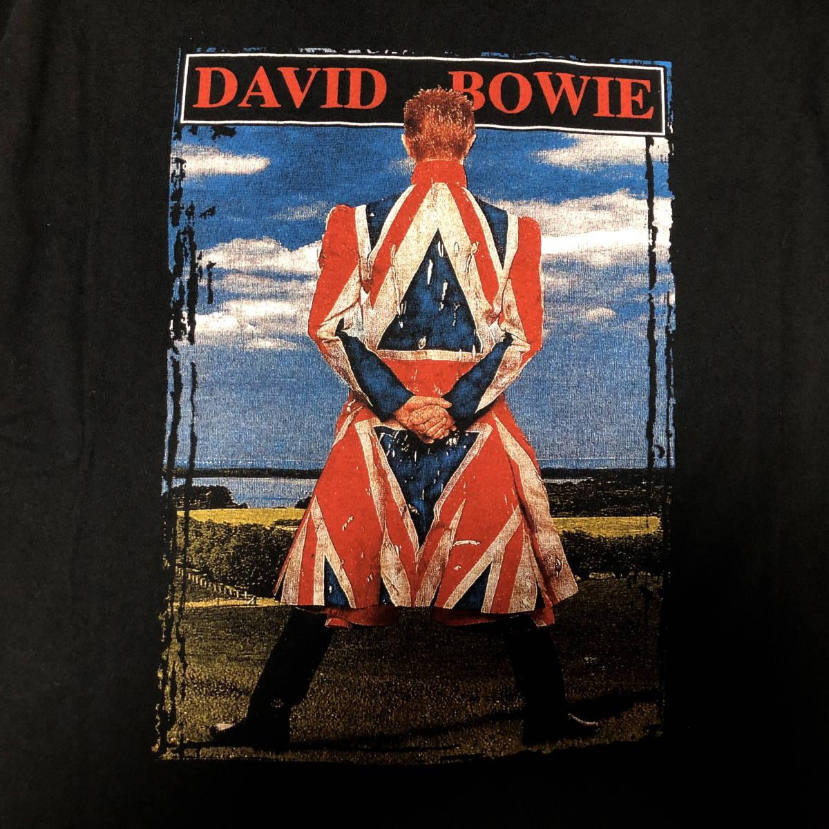 90s ビンテージ DAVID BOWIE ツアー Tシャツ XLサイズ 90年代 ヴィンテージ ボウイ バンドT NIRVANA METALLICA OASIS BLUR SONICYOUTH_画像3