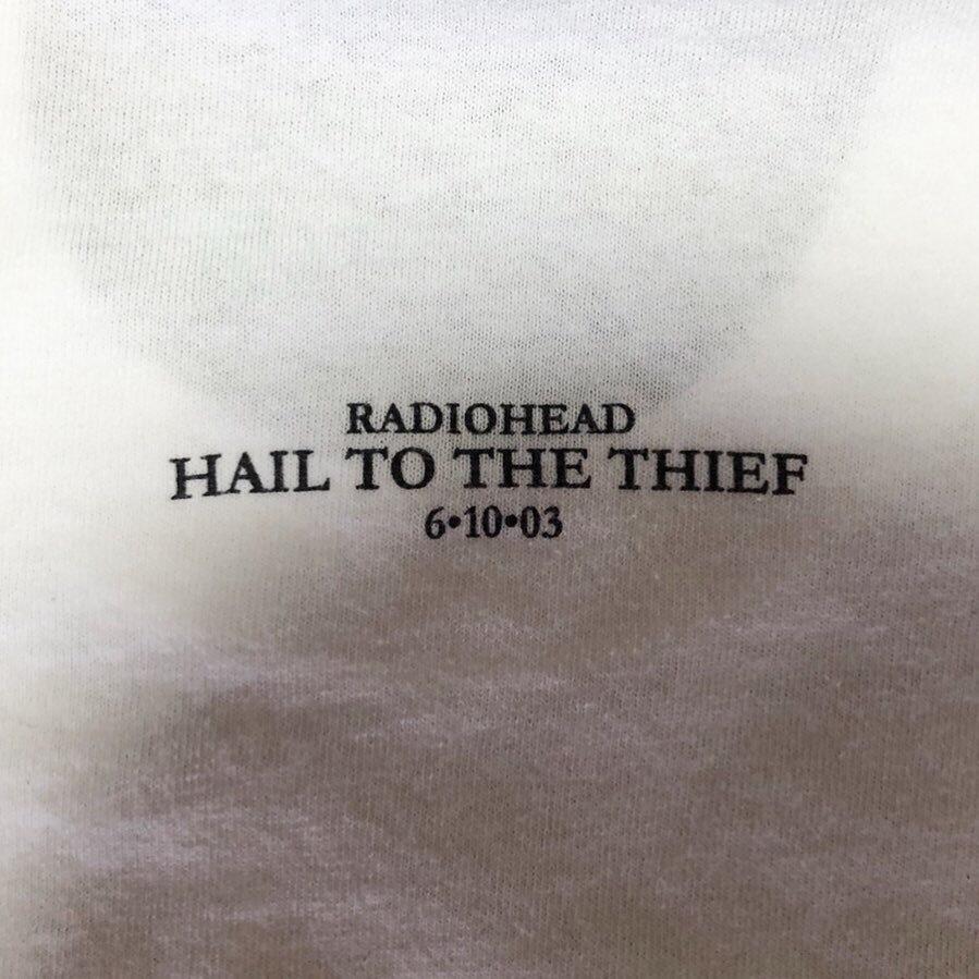 00s ビンテージ RADIOHEAD Tシャツ Mサイズ 00年代 ヴィンテージ レディオヘッド バンドT NIRVANA OASIS BJORK SONICYOUTH BLUR RAP 映画_画像4