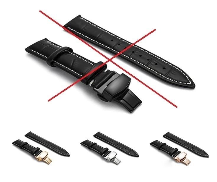 新品 腕時計 本革 カーフレザーベルト サイズ豊富 12mm~24mm ユニセックス 男女兼用 316Lステンレス使用 バタフライバックル ギフト_画像7