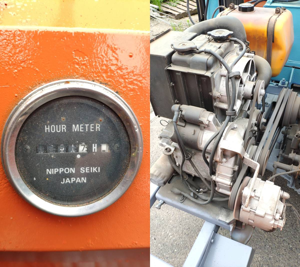 実働品!クボタ RC-20P77 クレーン付油圧ダンプ 乗用運搬車 タダノ TM-10RCD 約1トン吊 アウトリガ付 ユニック ディーゼルエンジン セル付_画像7