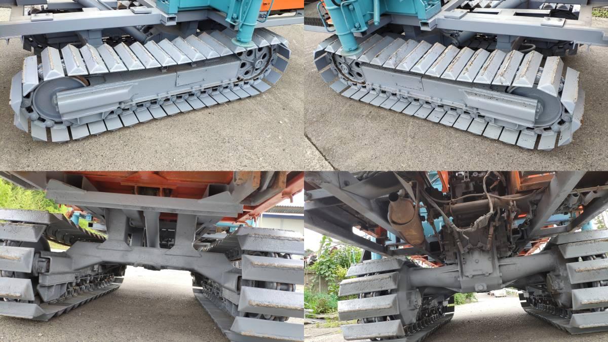 実働品!クボタ RC-20P77 クレーン付油圧ダンプ 乗用運搬車 タダノ TM-10RCD 約1トン吊 アウトリガ付 ユニック ディーゼルエンジン セル付_画像10