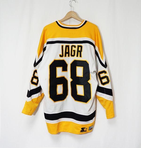 新品 NHL PITTSBURGH PENGUINS 『JAROMIR JAGR #68』 ジャージ ICE HOCKEY アイスホッケー STANLEY CUP SERIES REEBOK HIP HOP_画像2