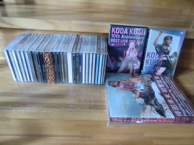 ♪ 送料無料! 倖田來未 DVD+CD+写真集 13枚 DVD(10th Anniversary 等) CD (ベスト1~3/Black Cherry/kingdom等)21CD+14DVDまとめて_画像1