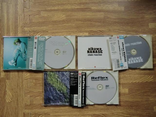 ♪ 送料無料! DVD 3枚 相川七瀬  Reflex + chain reaction + radioactive ~ 3枚 151分 ミュージックビデオ ~_画像4