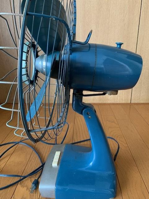 昭和時代の古い富士電機製の扇風機(FUJI SILENT FAN with capacitor)古いですがまだ動きます。_画像2