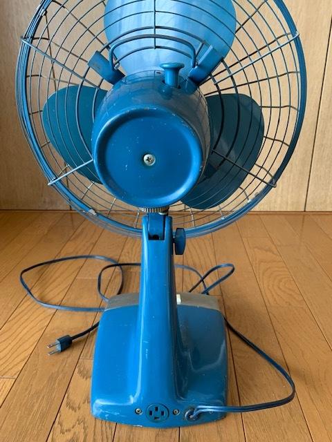 昭和時代の古い富士電機製の扇風機(FUJI SILENT FAN with capacitor)古いですがまだ動きます。_画像3