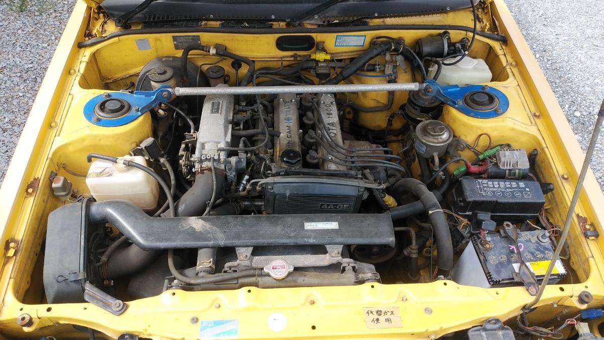 AA63カリーナ2台セット検索ワードハコカリ旧車ドリフトAE86ハチロク4AGスタンス族車高速有鉛AT141コロナ岩手宮城スプリンターカローラ_画像2