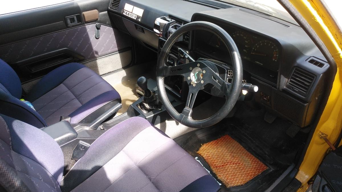 AA63カリーナ2台セット検索ワードハコカリ旧車ドリフトAE86ハチロク4AGスタンス族車高速有鉛AT141コロナ岩手宮城スプリンターカローラ_画像5