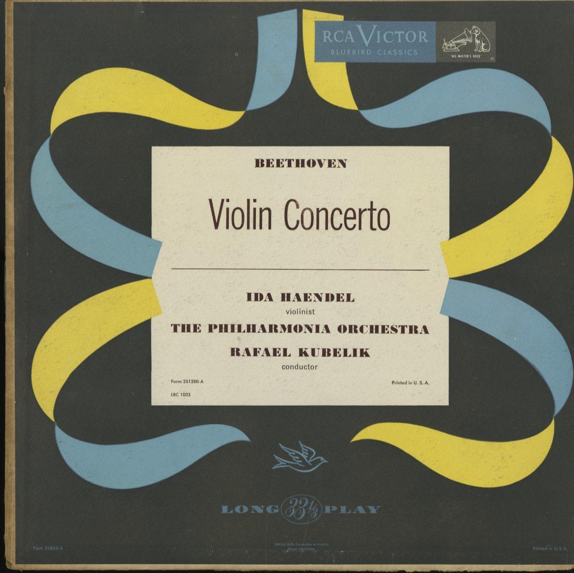 米 RCA Bluebird イダ・ヘンデル クーベリック ベートーヴェン バルビローリ ヤン・スメテルリン ブラームス アマデウス弦楽四重奏団 4LP_画像1