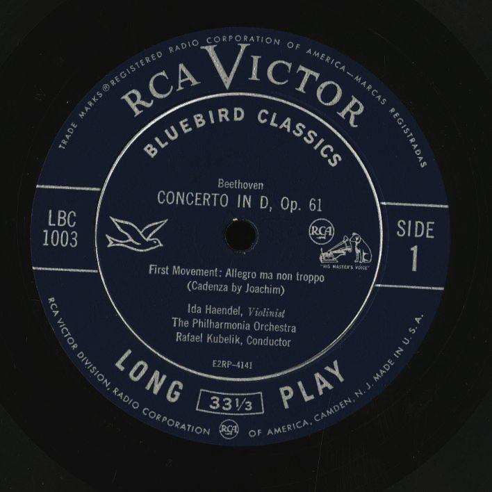 米 RCA Bluebird イダ・ヘンデル クーベリック ベートーヴェン バルビローリ ヤン・スメテルリン ブラームス アマデウス弦楽四重奏団 4LP_画像2