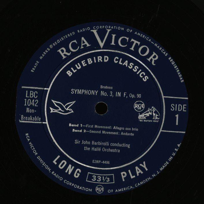 米 RCA Bluebird イダ・ヘンデル クーベリック ベートーヴェン バルビローリ ヤン・スメテルリン ブラームス アマデウス弦楽四重奏団 4LP_画像4