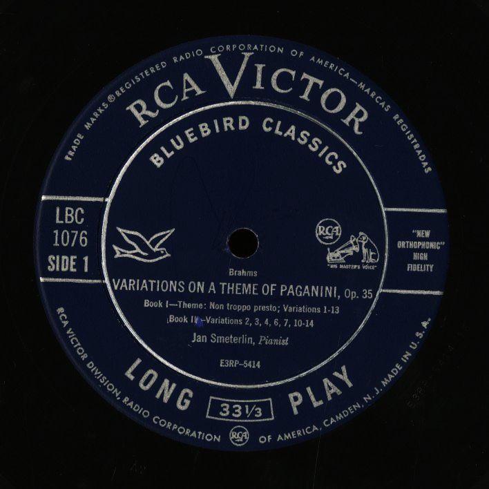 米 RCA Bluebird イダ・ヘンデル クーベリック ベートーヴェン バルビローリ ヤン・スメテルリン ブラームス アマデウス弦楽四重奏団 4LP_画像6